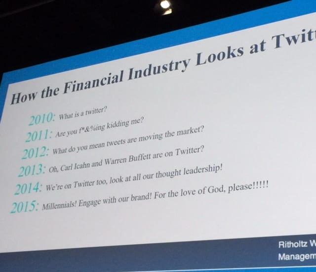 Twitter presentation Josh Brown at InsideETFs